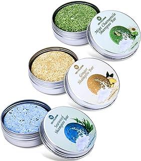 OCYCLONE Haar Shampoo Bar, Ingwer Seetang und Pfefferminz Kamille Haarseife zur Haarwuchsförderung, Anti Schuppen und Öl-Kontrolle, Vegan Natürliche Bio Pflanzliche Festes Shampoo, 3 PACK