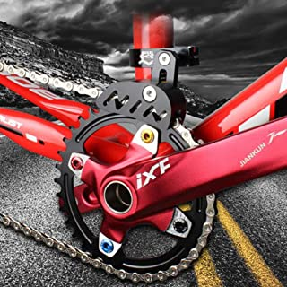 Guía de cadena de bicicleta MTB Protector de bicicleta de carretera bicicleta de montaña tensor de cadena con diseño hueco para piñón de un solo disco, dial frontal de conducción suave, negro