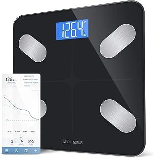 بلوتوث دیجیتال بدن چربی مقیاس از GreaterGoods، نظارت بر ترکیب بدن و مقیاس حمام هوشمند با راه حل امن اتصال برای داده های شما، شامل BMI، چربی بدن، عضله توده، وزن آب