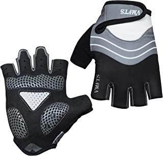 VMFTS Cycling Gloves Gel Pading Sporting Glove Fingerless and Full Finger Gloves for Fitness Weightlifting Racing Training Climbing Riding Parkour Running