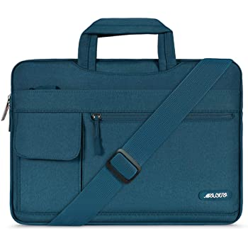 MOSISO Funda Protectora Compatible con 2019 MacBook Pro 16 A2141/15-15.6 Mac Pro Retina/Surface Lenovo HP Acer ASUS de Portátil, Bolsa de Hombro Blanda Maletín Bandolera de Estilo Flap,Trullo Profundo