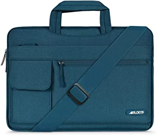 MOSISO Laptop Shoulder Bag Compatible with 13-13.3 Inch MacBook Pro, MacBook Air, Notebook Computer, Protective Polyester Flapover Messenger Briefcase Carrying Handbag Sleeve Case Cover, Deep Teal