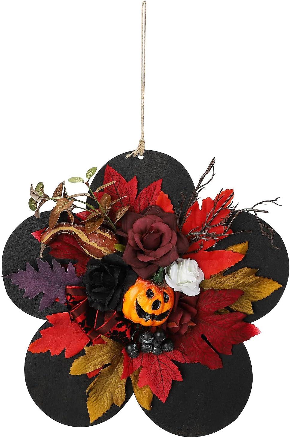 SAHLA 11.8inch Black Happy Halloween Wreath for Door Max 59% OFF Front Hallo Popular popular