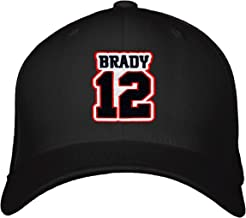 Tom Brady No. 12 Hat - Adjustable Unisex Black Football Cap