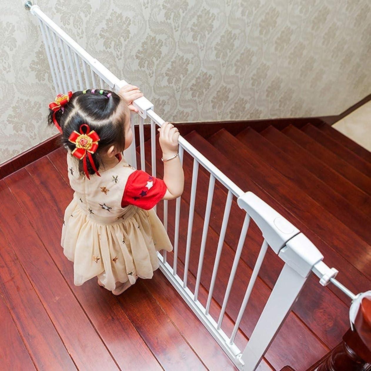 真っ逆さま勘違いする布階段フェンスドアチャイルドベビーキッチンフェンス用ベビーゲートフェンスフリーパンチホーム屋内フェンスセルフクロージング(色:High78cm、サイズ:247-255cm)