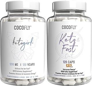 Premium Ketogenic Diet Bundle - KetoGirl and Keto Fast Pills, 2X Exogenous Ketones with 120 Capsules, Slim Supplement, Max...