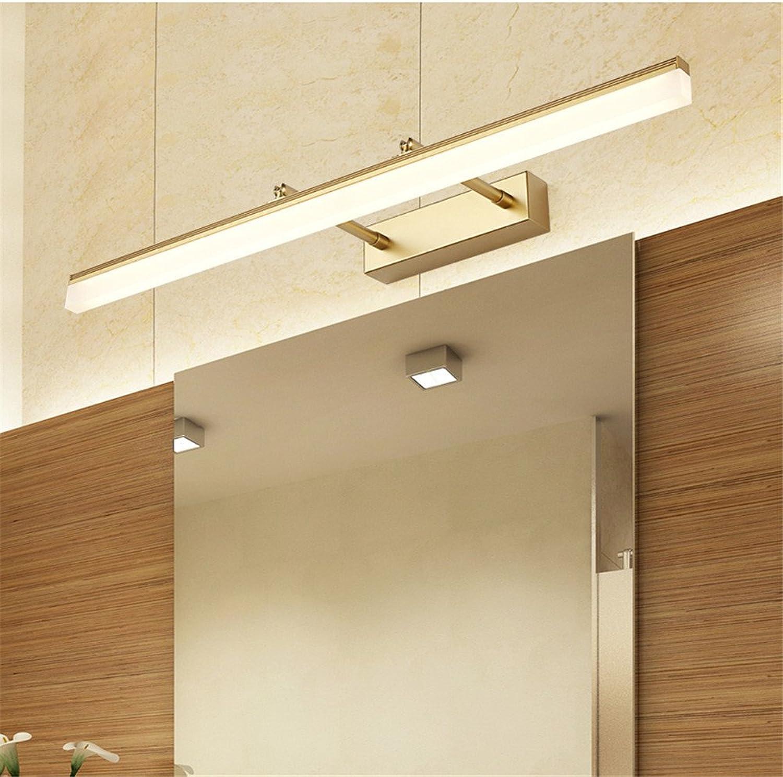 YU-K Moderne Wandleuchte Mirror vorderen Leuchte LED Badezimmer Badezimmer Spiegelschrank light Anti-fog einziehbaren Wandleuchte, Gold, 14W, warmes Licht, 60 cm