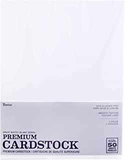 Darice GX-2200-06 Core'dinations 50-Piece Card Stock Paper, 8.5