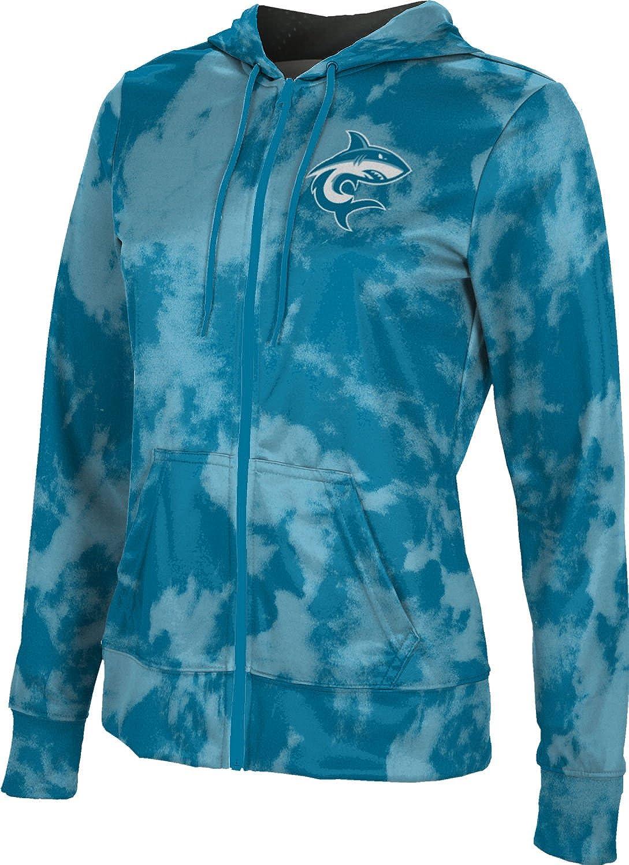 ProSphere Hawaii Pacific University Girls' Zipper Hoodie, School Spirit Sweatshirt (Grunge)