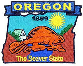 EagleEmblems PM6738 Patch-Oregon (State Map) (3-3/8'')