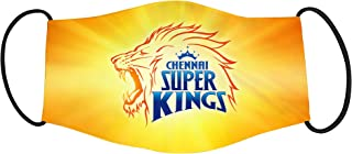 Vista IPL Team Chennai Super Kings Mask -Cotton Reusable Washable Mask Size 20x13 cms