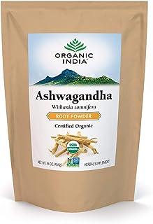 Sponsored Ad - Organic India Ashwagandha Herbal Powder - Stress-Relief, Vegan, Gluten-Free, Kosher, USDA Certified Organic...