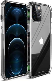 Migeec Compatible con iPhone 12 Pro MAX Estuche rígido para PC + Marco de TPU Suave [Amortiguador] Estuche para teléfono p...