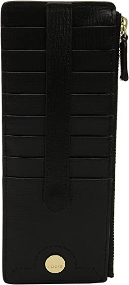 Lodis Accessories Business Chic RFID Credit Card Case with Zipper Pocket