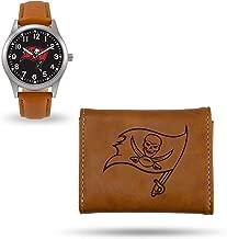 Rico Industries Tampa Bay Buccaneers Sparo Brown Watch and Wallet Set