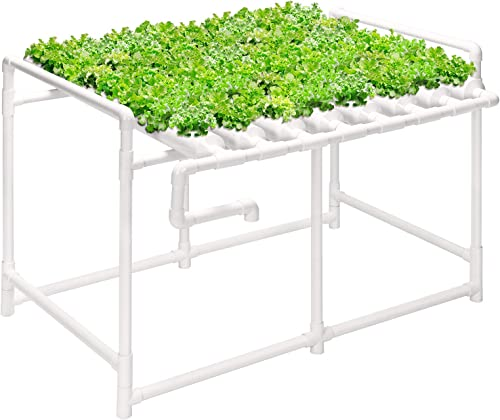 high quality VIVOSUN Hydroponic Grow Kit, 1 Layer 72 Plant Sites 8 PVC Pipes Hydroponics Growing new arrival System with Water Pump, Pump Timer, popular Nest Basket and Sponge for Leafy Vegetables sale