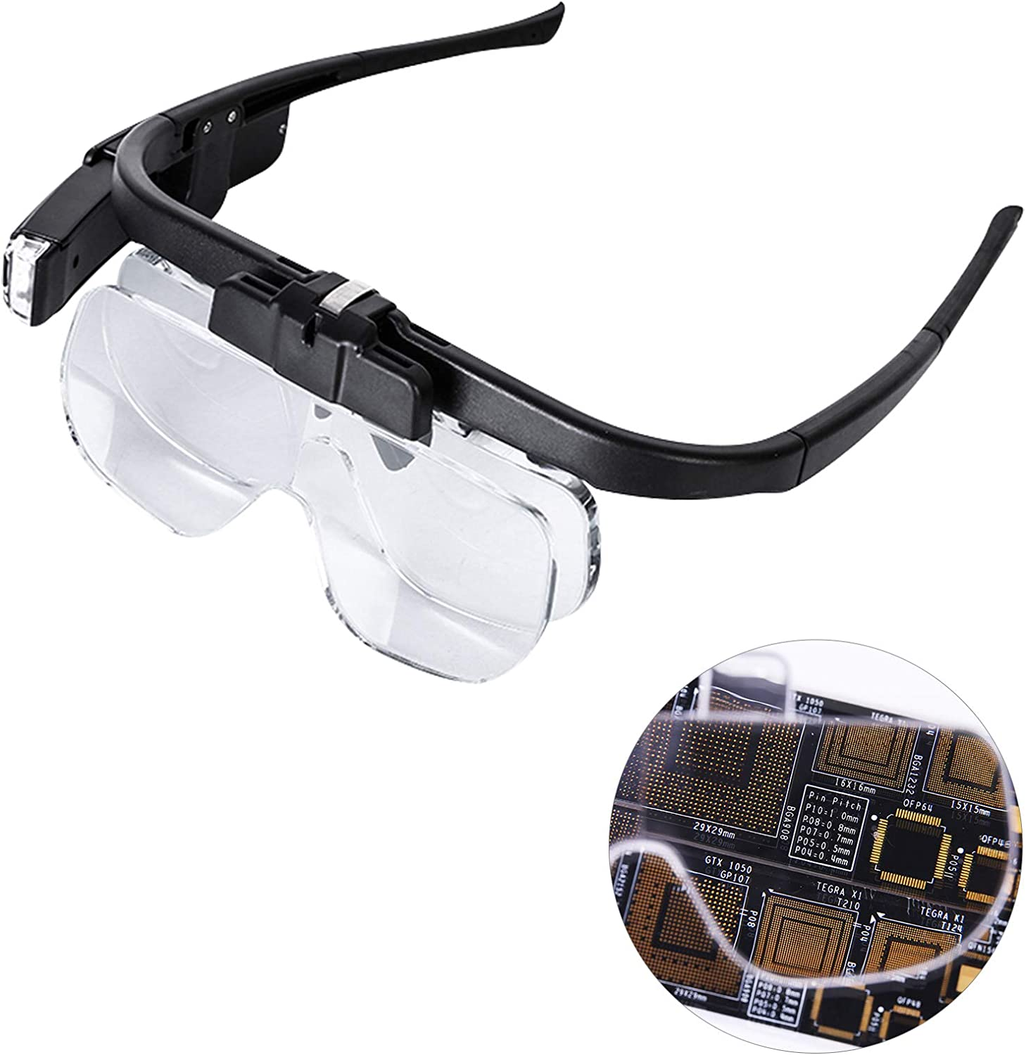 LXIANGN Head Classic Mount Magnifier Magnifying Led with Light Lam Glass Lowest price challenge