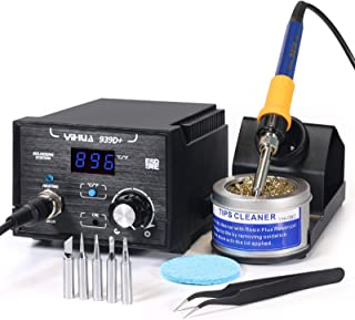 Yihua 939D+ Digital Soldering Station, 75W Equivalent with Precision Temp Control..