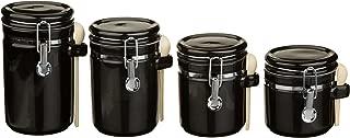 Best anchor hocking 4 piece ceramic canister set black Reviews