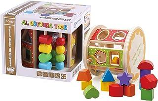 Al Ostoura Toys Round Shape Intelligence Educational Wooden Toy