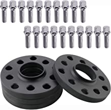 4pcs 15mm 5x100 5x112 Hubcentric Wheel Spacers Hub Bore 57.1mm with 14x1.5 Tapered Bolts for Audi A3 A3 A6 A8 | VW Jetta Golf Passat