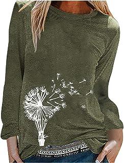 ESKNAS Women Blouse Autumn Winter Cat Sunflower Print Pullover Sweatshirt O-Neck Long Sleeve T Shirt Tops