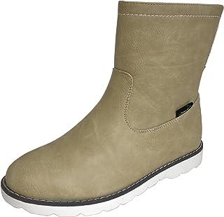 [アマート] レディース 折り返し 2way ハーフ ブーツ レイン 雨靴 防水 タウン カジュアル 3色 AMT-2201