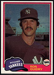 Baseball MLB 1981 Topps #250 Ron Guidry #250 VG/EX Very Good/Excellent Yankees