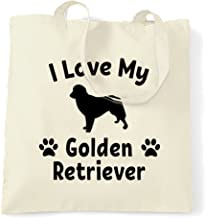 Dog Owner Tote Bag I Love My Golden Retriever Natural One Size