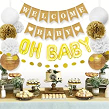 Sweet Baby Co. Baby Shower Decorations Neutral For Boy or Girl With Welcome Baby Banner,..