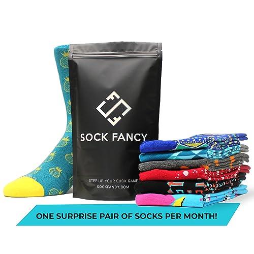 Sock Fancy - Surprise Pair of Socks Subscription: Crew Socks
