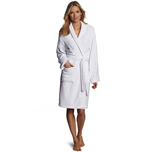 6030b3b2bb Seven Apparel Hotel Spa Collection Herringbone Textured Plush Robe