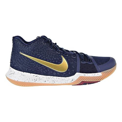 a9c3b15fd217 Nike Kyrie 3 Men s Basketball Shoes Obidian Metallic Gold White 852395-400 (