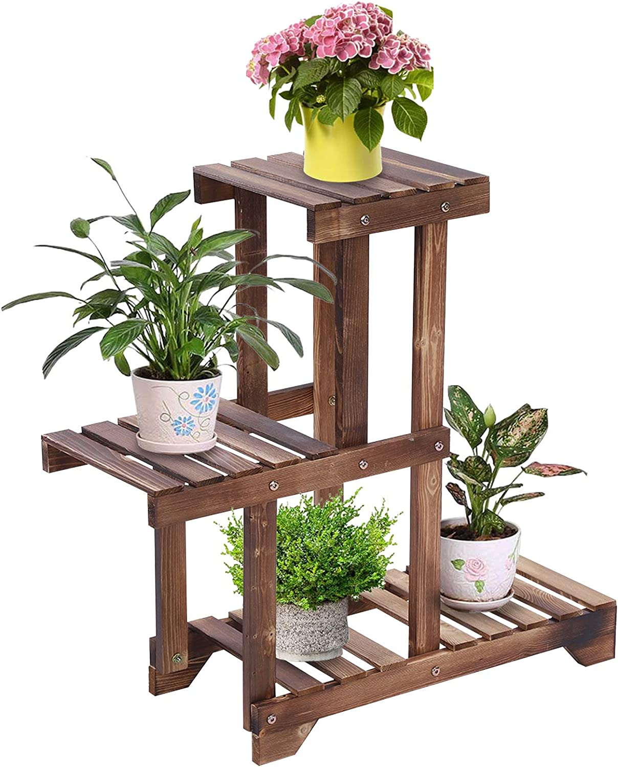 Cocoarm 3 オリジナル Tier 実物 Carbonized Wooden Stand Multifunction Plant Wood