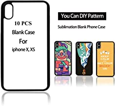 JUSTRY 10PCS Sublimation Blanks Phone Case Covers for Apple iPhone X iPhone Xs, 5.8 Inch. Sublimation Blanks Printable Phone Cases DIY Soft Rubber