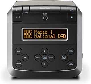 Roberts Sound 48 DAB/DAB+/FM Stereo Clock Radio with CD, Bluetooth, USB Playback/Charging - Black