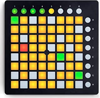Controlador de DJ portátil 64 Clave Controlador Midi USB en Vivo de DJ Etapa de Lanzamiento del Mini Controlador de Grid Compacto USB para Ableton Live, la versión MK2 (Negro)