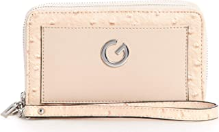 G by Guess Zip Around Wallet for Women - Peach,16.5 x 10.5 cm