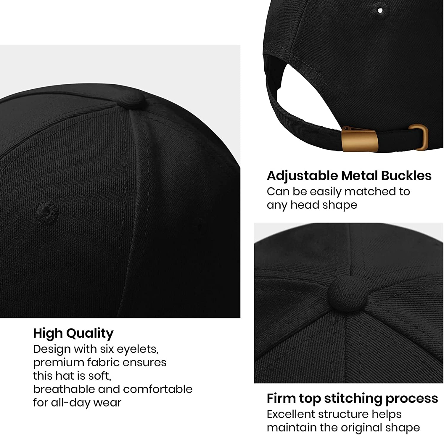 GGraphic Black Clover Embroidery Baseball Cap Sunshade Cloth Cap for Men and Women Fashion Adjustable Cap