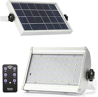ENGREPO Radar Solar Lights Outdoor, 46 LED 1000 Lumens Adjustable Wireless Motion Sensor Light With Remote Control for Yard, Garage, Garden, Patio, Deck