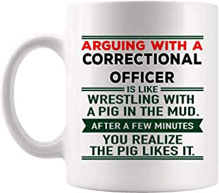 Funny Correctional Officer Mug Best Coffee Cup Mugs Gift JokeSarcasm Meme Humor Quote Work Fun Saying   Funny Gifts Police Corrections Prison Officer