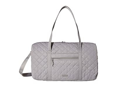 Vera Bradley Iconic Performance Twill Lay Flat Travel Duffel (Tranquil Gray) Carry on Luggage