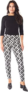 INTRO. Tummy Control High Waist Pull-On Cotton \ Spandex Legging - Multicolored - Petite XL