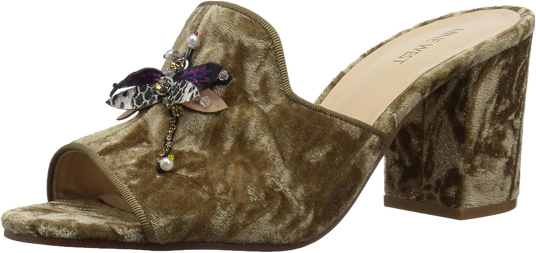Nine West Women's GLASSLIPR Fabric Heeled Sandal
