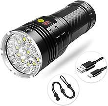 Semlos LED Taschenlampe, Superhelle 5000 Lumen CREE Wiederaufladbare Taktische..