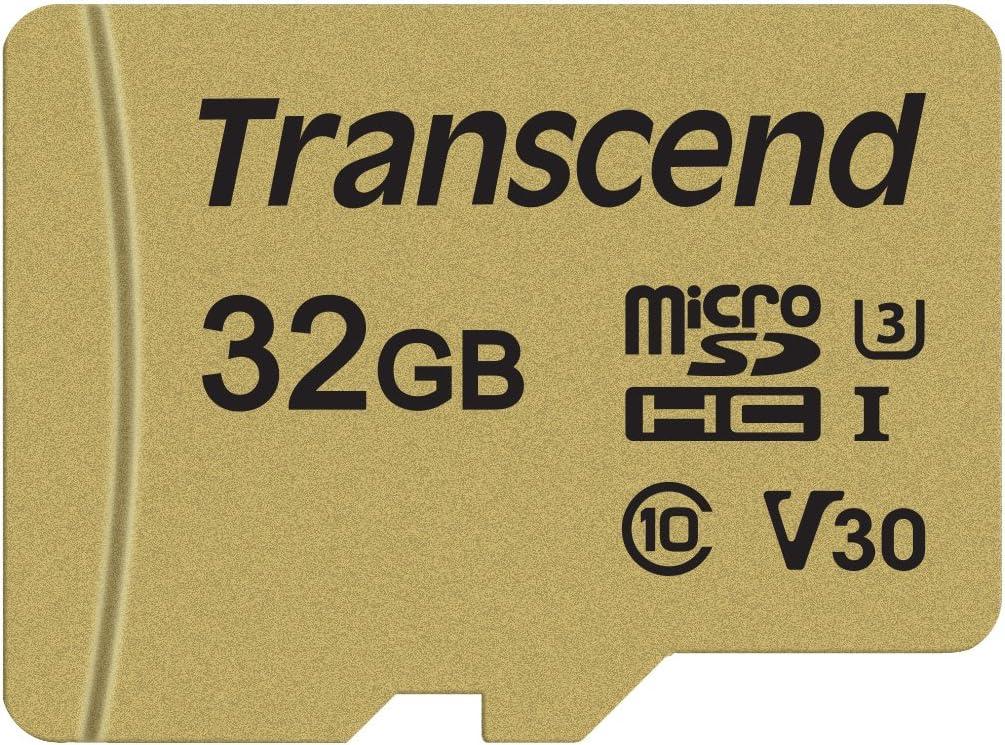 Transcend 32GB microSDXC/SDHC 500S Memory Card TS32GUSD500S