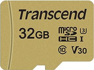 Transcend Ultra Highspeed 32GB micro SDXC/SDHC Speicherkarte (für Action Cams / Dashcams und Drohnen) / 4K, U3, V30, UHS I – TS32GUSD500S