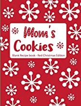 Mom's Cookies Blank Recipe Book Red Christmas Edition