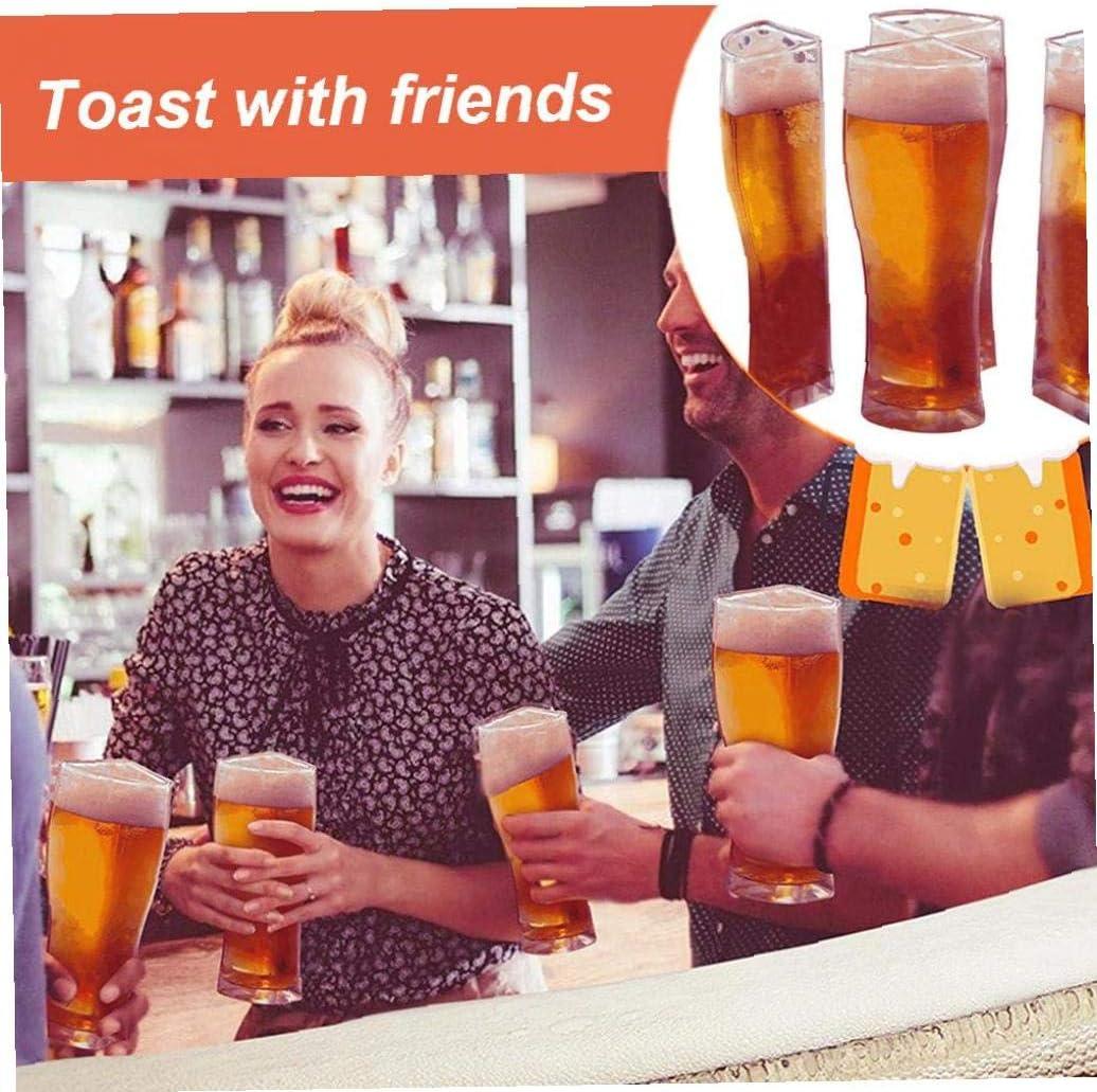 Super Schooner bi/ère en Verre Style Pub Design pour la Maison Bars et Parties S DierCosy Tools 4 dans 1 Tasse de bi/ère Verre Creative Boire Connected