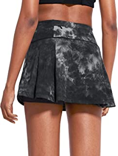 """BALEAF Women's 13"""" High-Waisted Tennis Skirts Pleated Mini Athletic Skorts with 4 Pockets for Golf Running Workout Skater ..."""